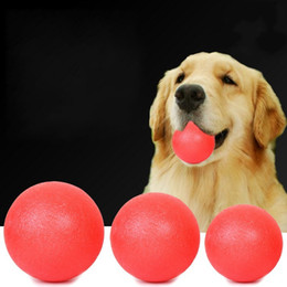 round rubber dog toys NZ - Bite Resistant Dog Toy Solid Rubber High Elastic Ball Red Round Molars Balls Pet Toys Sturdy 4 8fz3 BB