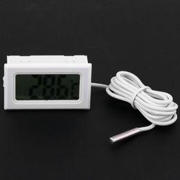 Indoor Outdoor Termometro digitale LCD Termometro elettronico Frigorifero Fish Tank Acquario Temperatura Meter con sonda