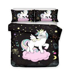Meditation set online shopping - 3D Art Design Kids Unicorn Pattern Bedding Sets Yoga Meditation Child Duvet Covers Pillow Case Twin Full Size All Size T