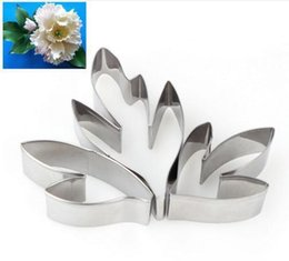 $enCountryForm.capitalKeyWord Australia - 1set New stainless steel sugar flower cut peony leaf flip sugar cake tool cookie cutter