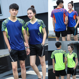 moisture wicking clothing for men NZ - Wholesale 2018 new badminton clothing for men women,table tennis short-sleeved Suits sweat quick dry sportswear Clothing tennis Shirts M-4XL