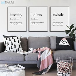 Modern abstract wall art black white online shopping - Black White Minimalist Hippie Life Quotes A4 Big Poster Wall Art Print Picture Modern Nordic Home Decor Canvas Painting No Frame