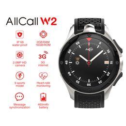 $enCountryForm.capitalKeyWord Australia - AllCall W2 3G WCDMA Android 7.0 Quad Core Smart Watch 1.39'' HD Screen 2G 16G Memory GPS Wifi Heart Rate 4.0 Watches.