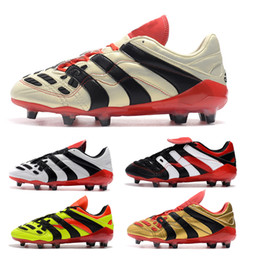2018 Soccer Boots Predator Accelerator Electricity FG 98 Classic Football Boots Soccer Cleats Size US6.5-US11