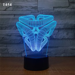 Wholesale 7 Colors Light Changes Home Decoration Magic Structure Lamp Amazing Visualization Optical Illusion Awesome D LED Night Light