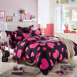 $enCountryForm.capitalKeyWord Australia - 4Pcs Set Bedding Set Home Textile Cartoon Soft 3D Printing Stripe Bed Sheet Set Polyester Bedding Cover For 1.8 Meter