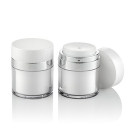 Acrylic cosmetic jAr white online shopping - g g g pearl white Acrylic vacuum cream jar plastic empty airless Cosmetic Jar