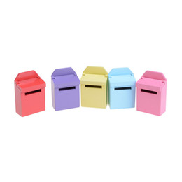 Chinese  5 Colors 1PCS Wood Mailbox Ornaments Gadget Doll house Toy Miniature House Furniture Craft for Doll Accessories Kids Gift manufacturers
