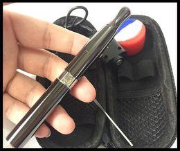 Dab Pen Dome Australia - ceramic wax pen e cigarette vaporizer quartz coil heating attachment dab pen ego VS glass dome vaporizer high quality cheap prices