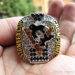 Pittsburgh Rings Canada - Drop Shipping 2017 Pittsburgh Penguins Stanley Cup Championship Ring Fan Men Gift Wholesale