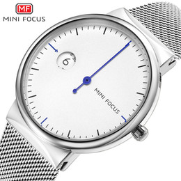 mens mesh band watches Australia - MINIFOCUS Modern Steel Mesh Band Watch Men Luxury Simple Mens Watches Waterproof Calendar Quartz Watch Dress Gift Watch MF0182G