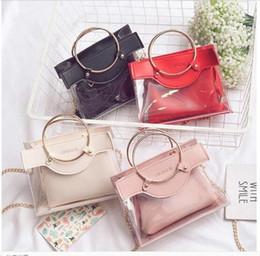 b484bdba465ae Neue Mode Frauen Designer Handtaschen Ring Mädchen Kette Luxus Handtasche  Schultertasche Marke Damen Umhängetasche Crossbody Taschen 2 Stück Sets