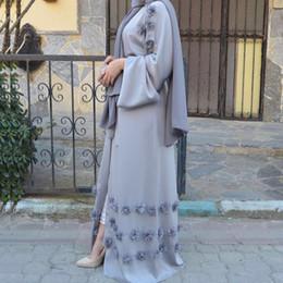 $enCountryForm.capitalKeyWord NZ - Adult Dubai Open Abaya Muslim Woman Caftan Dress Islamic Abayas for Women Turkish Robe Musulmane Hijab Cardigan Dresses Clothing With Belt