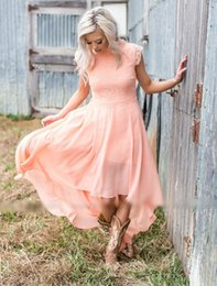 Sexy Country Bridesmaids Dresses NZ - 2018 sexy cheap plus size pink high low dress maid of honor dresses country bridesmaid dresses