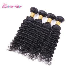 Virgin Human Hair 28 Australia - 8A Brazilian Deep Wave bundles Virgin Human Hair Weave 3  4 Bundles Brazilian Hair Deep Curly Bundles Hair Extension Free Shipping