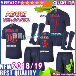 Any name   number 2018 2019 Di Maria Soccer Jersey VERRATTI PASTORE Mbappe 18  19 NEYMAR JR Adult Kit CAVANI Football Jerseys Custom e973a16b5