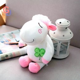 lamb toys 2019 - 24cm Soft plush lamb toys baby sleeping cuddly pink white sheep dolls stuffed animal appease toys for children Kids birt