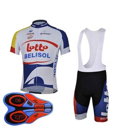 LOTTO team Cycling Short Sleeves jersey (bib) shorts sets 2018 Ropa  Ciclismo men Summer Quick Dry MTB bicycle Clothing Sportswear 91220F ae36ff582