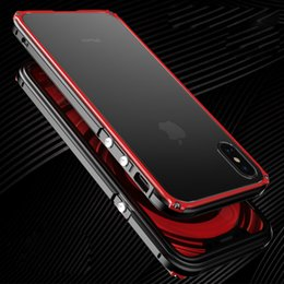 $enCountryForm.capitalKeyWord Australia - Metal Bumper For iphone X 8 case cover Luxury aluminium frame for iphone X 8 plus clear Transparent Back shockproof phone case