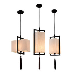 Chinese Ceiling lighting online shopping - Chinese Solid Square Lantern Restaurant Ceiling Pendant Lamp Balcony Corridor Study Room Hanging Lamp Coffee House Bedroom Pendant Lamps