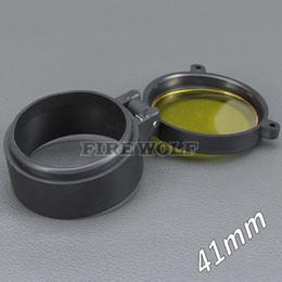 Flashlight glass lens online shopping - 41mm Flashlight Cover Scope Cover Rifle Scope lens Cover Internal diameter mm Transparent yellow glass hunting