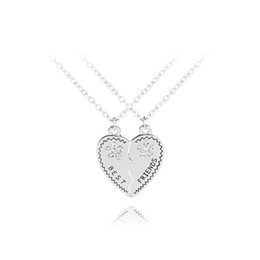 $enCountryForm.capitalKeyWord UK - clear crystal BFF Necklaces for 2 statement necklaces Pendants heart Stitching Necklace gift back school friendship Jewelry