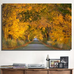 $enCountryForm.capitalKeyWord NZ - 1 Pcs Photos Pictures Autumn Trees Wall Art for Living Room Bedroom Office Home Decor No Frame