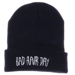 7983ef2a0072c Bad Hair Day Winter Hats For Women Men Cotton Unisex Adult Casual Skullies  Beanies Hats Caps For Men Women Knitted Gorros Toca