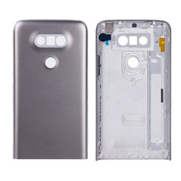 housing for lg NZ - OEM New Back Battery Cover Door Rear Glass Housing Case For LG G5 H840 H850 Battery Cover Replacement Parts Free DHL