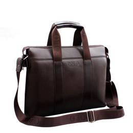 af748f58bde2 2018 Famous Brand Designer Briefcase Simple Mens Leather Briefcase Solid  Large Business Man Bag Laptop Bag Messenger Bag for Men