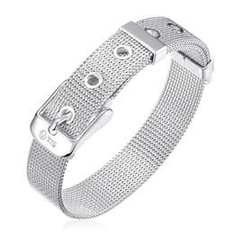 $enCountryForm.capitalKeyWord NZ - Free shipping ! Net watch with bracelet -14MM- 925 silver bracelet JSPB006,Beast gift men and women sterling silver plated Charm bracelets