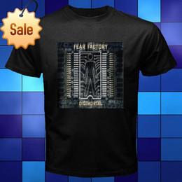 Men S T Shirt Factory NZ - Fashion 2018 Summer New Fear Factory Digimortal Heavy Metal Black T-Shirt Size S M L XL 2XL 3XL T-Shirt men t shirt Tops Tees