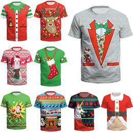 $enCountryForm.capitalKeyWord NZ - 2018 New Arrive Unisex Christmas T-Shirts for Teenager Boys Girls Santa Claus Print Men Women Xmas Party Short Sleeve Tees Tops S-3XL