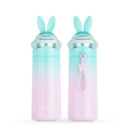 $enCountryForm.capitalKeyWord UK - Rabbit Gradient Thermos Feeding Cup Portable Milk Cup Stainless Steel Hot Water Bottle for Kids Leak-poof Vacuum Flask 350ML