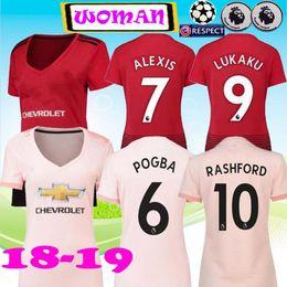 6aba9eaad 2018 2019 LUKAKU ALEXIS SANCHEZ women Soccer Jersey 18 19 POGBA MARTIAL  LINGARD UTD MATA MATIC RASHFORD Women Football Shirt