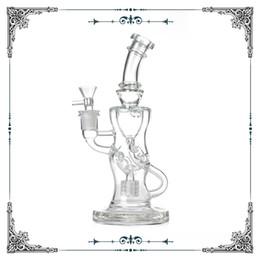 $enCountryForm.capitalKeyWord Australia - Fab Klein glass Recycler bong with matrix perc percolator bongs for smoking glass water pipes 9 inch hookah shisha waterpipes free shipping
