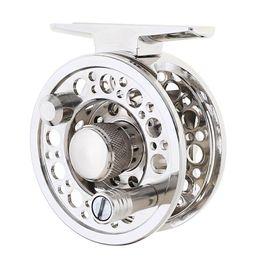 Wholesale Silver Full Metal Die Casting 60# 2+1BB 1:1 Fly Fishing Reel Fishing Tackle Raft Ice Reel