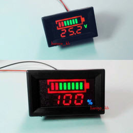 $enCountryForm.capitalKeyWord NZ - Freeshipping LED Indicator Battery capacity Tester + voltmeter for 12V 24v 36 48V Car balance Lead-acid Lithium 1s 2s 3s 4s 5s 6s 7s