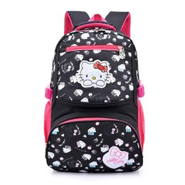 Nylon Hello Kitty bag cartoon primary Backpacks Children School Bags for  girls Backpack kids SchoolBag school Back pack mochila aec6c794acc1f