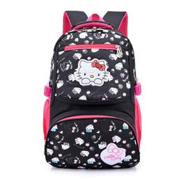 Nylon Hello Kitty bag cartoon primary Backpacks Children School Bags for girls  Backpack kids SchoolBag school Back pack mochila 576afe7120b55