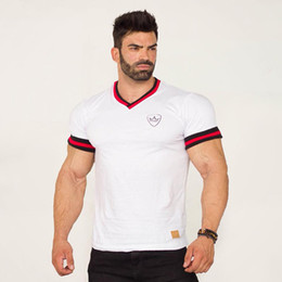 $enCountryForm.capitalKeyWord Canada - 2018 Sports Running Quick Dry Fit High Quality 100% Cotton Mens Short Sleeve Polo T-shirts V-neck Brand Breathable Men T-shirts