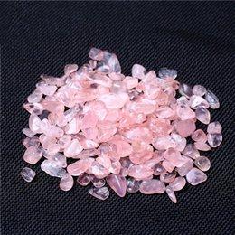 Натуральный розовый кристалл литотрипсия бисер ювелирные изделия делая поставки камень очистить браслет Аквариум цветочный горшок Главная сад кулон красочные 2ZS BB