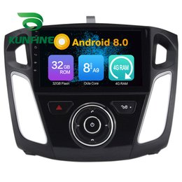 Ford Touch Screen Stereo Australia - Octa Core 4GB RAM Android 8.0 Car DVD GPS Navigation Multimedia Player Car Stereo for FORD Focus 2012 Radio Headuint Wif