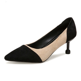 Lady S Shoes UK - New Women 's Fashion Pumps High Heels Elegant Suede Shoes Woman Summer Sexy Ladies Party Dinner Club Dress Footwear
