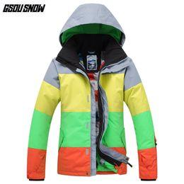 64d6cc2f92 Ski Clothing Brands Australia - GSOU SNOW Brand Ski Jackets Men  Snowboarding Jackets Winter Waterproof Skiing