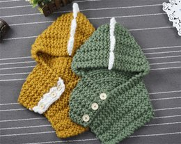 Free Christmas Gifts For Children Australia - Christmas Gifts Baby Knitted Dinosaur Hats with Scarf Set Winter Windproof Boys Girls Warm Knitting Caps for Children Scarf Beanies Caps