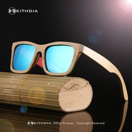 sunglasses polarizadas NZ - KITHDIA Classic Wood Sunglasses Women Wooden Frame Bamboo sunglasses Polarized Lenses gafas sol hombre polarizadas uv400