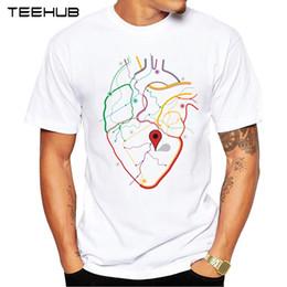 popular t shirt designs 2019 - 2018 TEEHUB Summer Fashion you are in my heart Design T-Shirt Short Sleeve Popular Design Tops Novelty Tee cheap popular