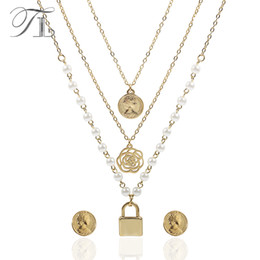China TL Multi-layers Imitation Pearl Jewelry Set