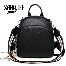 $enCountryForm.capitalKeyWord NZ - ZANG LEE Soft PU Leather Korean Cute Small Black Backpack Purse Women 2018 Dual-use College School Shoulder Bag with Strap